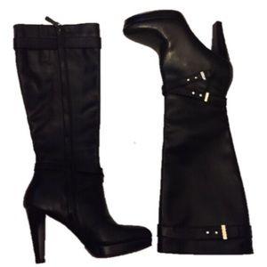 Cole Haan Nike Air 6.5B Black knee high boots